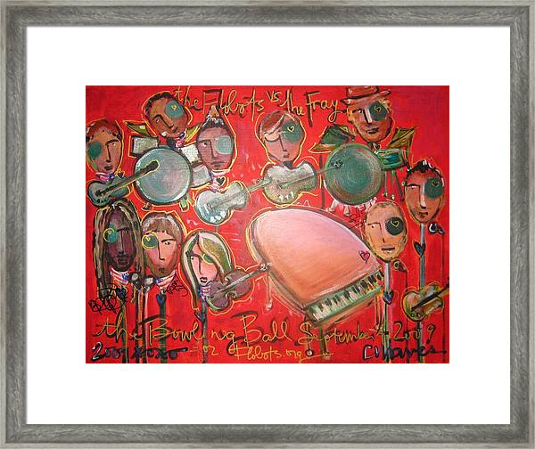 Framed Print featuring the painting The Fray And The Flobots by Laurie Maves ART