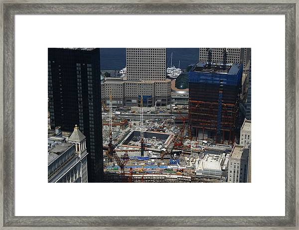 The Freedom Tower Rises Framed Print