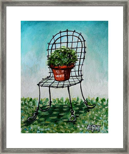 The French Garden Cafe Chair Framed Print