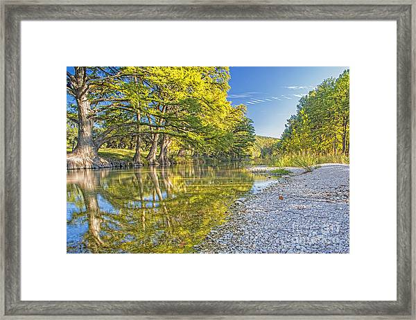 The Frio River In Concan Texas Framed Print by Andre Babiak