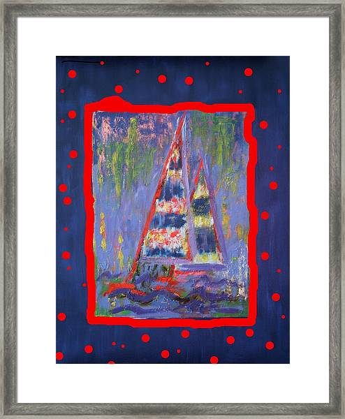 The Fun Of Sailing Framed Print