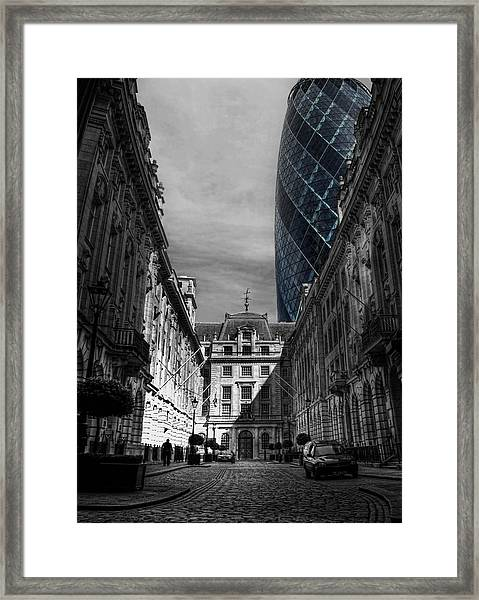 The Future Behind The Past Framed Print