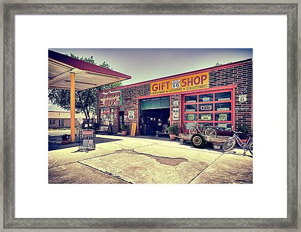 The Garage Framed Print