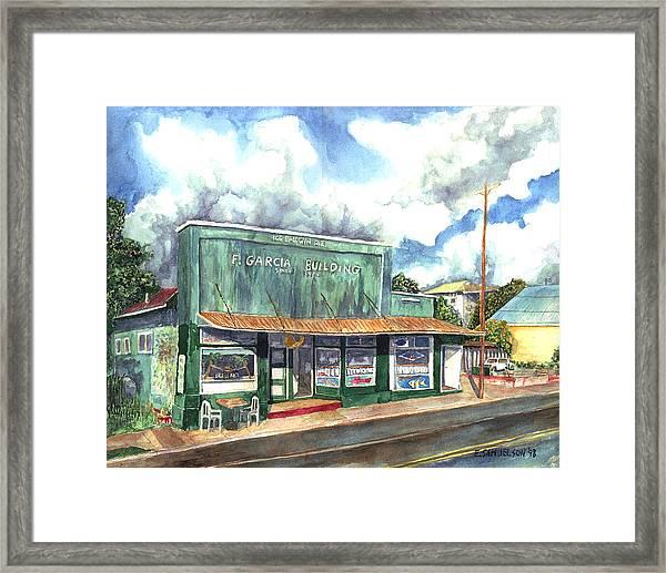 The Garcia Building Framed Print