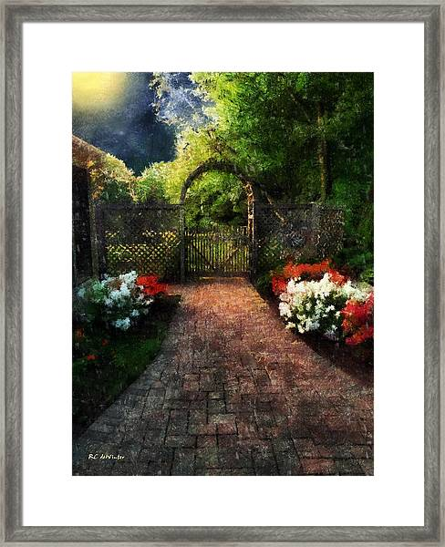 The Garden Path Framed Print