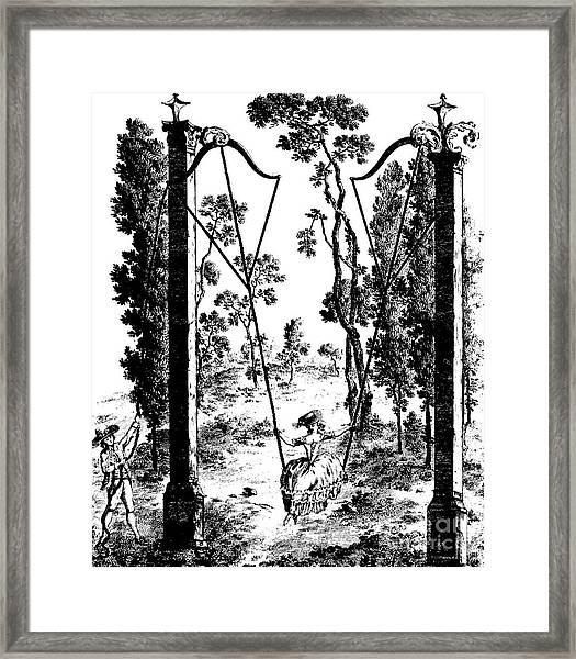 The Garden Swing At Rambouillet Framed Print