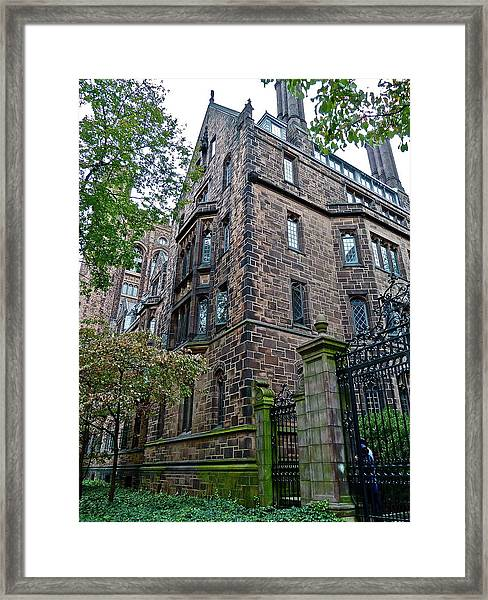 The Gates Of Yale Framed Print