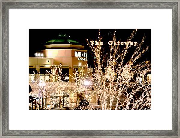 The Gateway Mall Framed Print