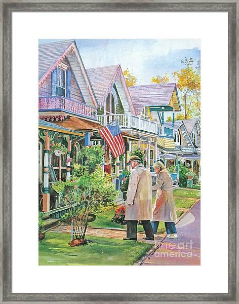 The Gingerbread Cottages Framed Print