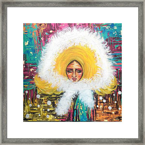 The Girl With The Fur Coat Framed Print