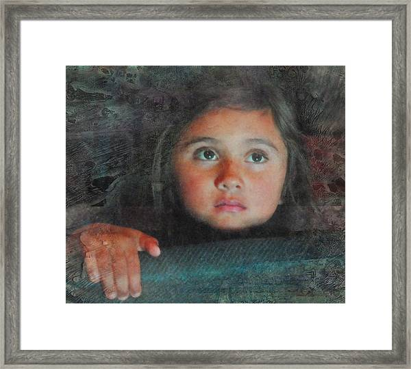 The Girl With The Chocolate Eyes Framed Print