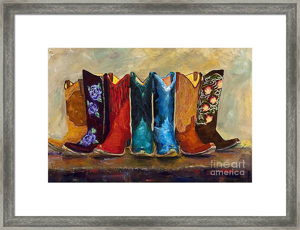 The Girls Are Back In Town Framed Print