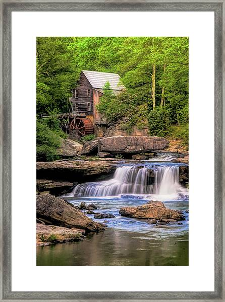 The Glade Creek Mill Framed Print