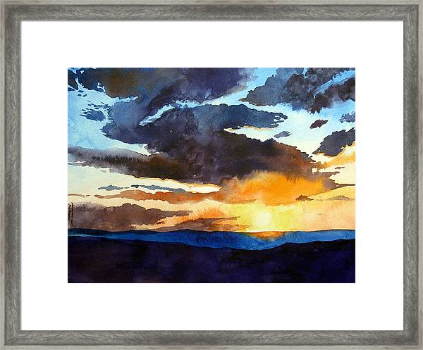 The Glory Of The Sunset Framed Print