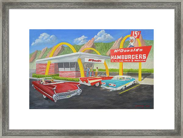 The Golden Age Of The Golden Arches Framed Print