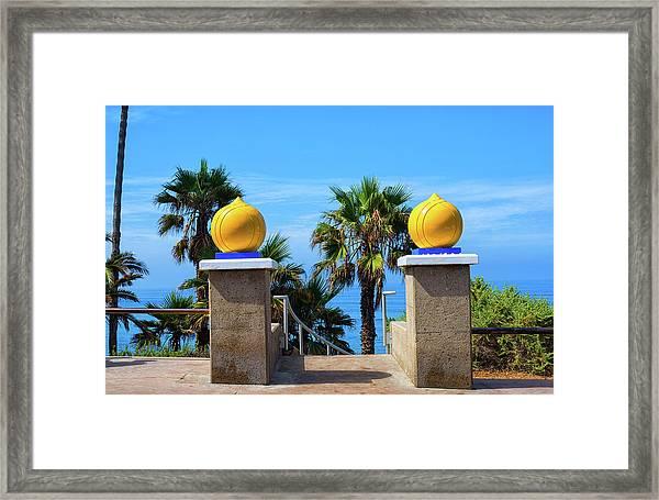 The Golden Domes Framed Print