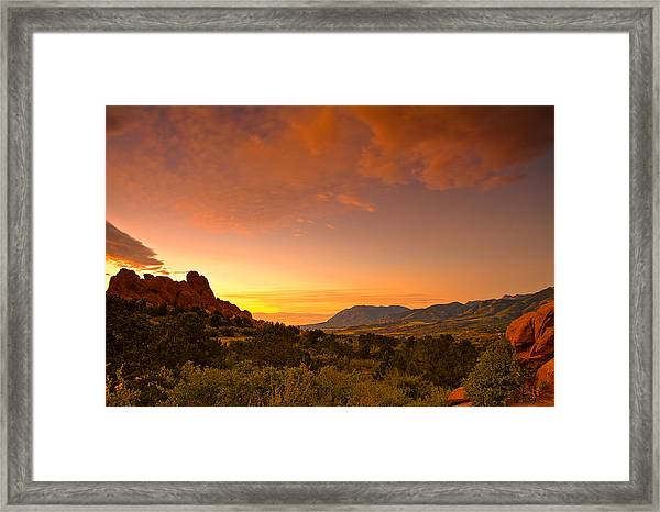 The Golden Hour Framed Print by Tim Reaves