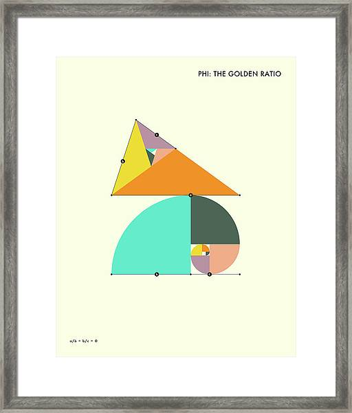 Phi - The Golden Ratio Framed Print