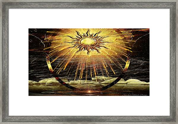 The-golden Ring By The Shore Framed Print