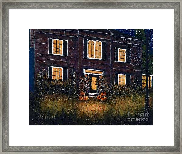 The Good Witch Grey House Framed Print