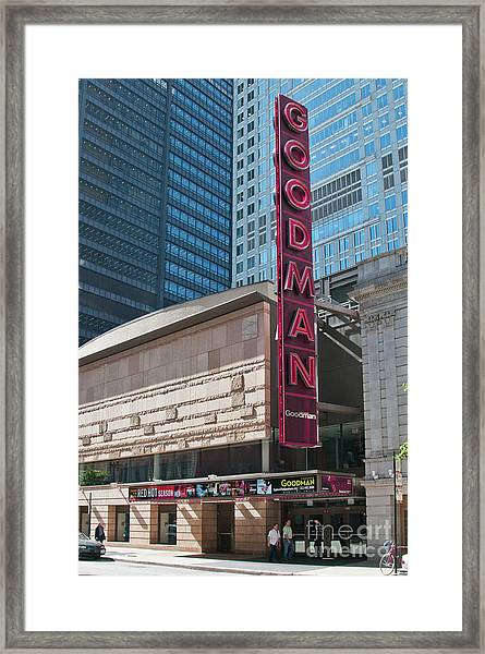The Goodman Theater Framed Print