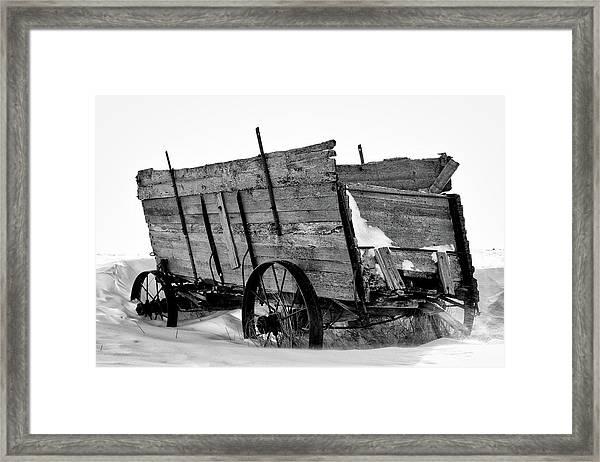 The Grain Wagon Framed Print