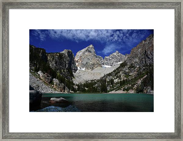 The Grand And Mount Owen From Delta Lake Framed Print