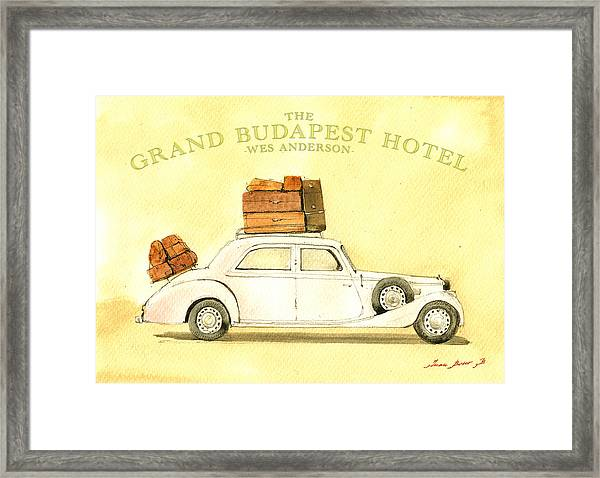 The Grand Budapest Hotel Watercolor Painting Framed Print