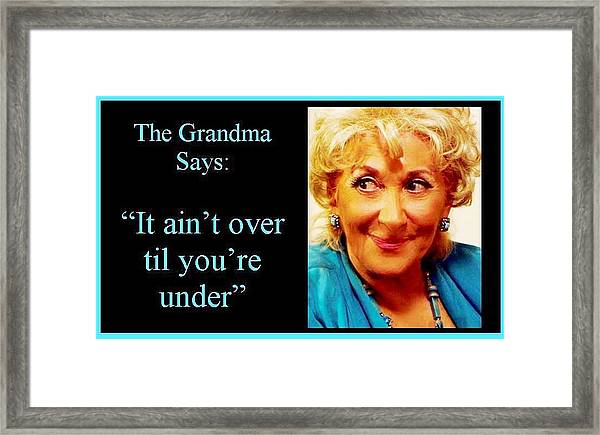 The Grandma Over And Under Framed Print