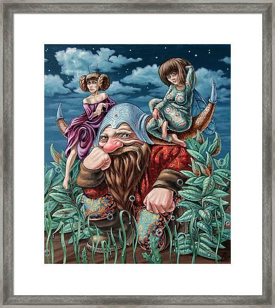 The Great Horns Framed Print