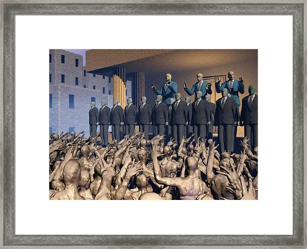The Great Mud Revolt Framed Print