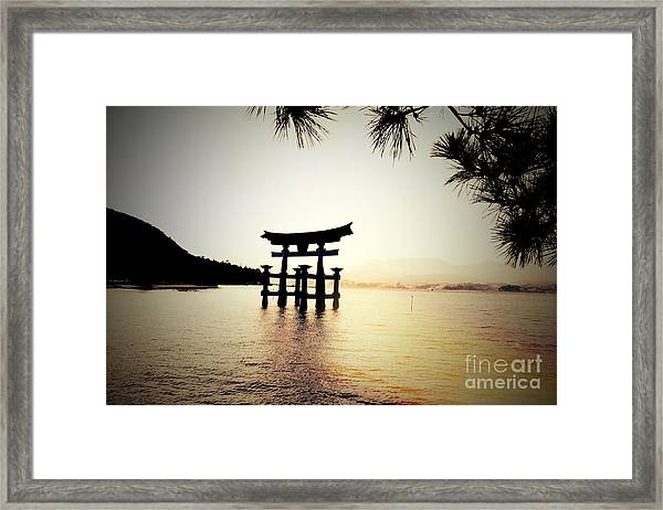 The Great Torii  Framed Print