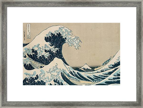 The Great Wave Of Kanagawa Framed Print