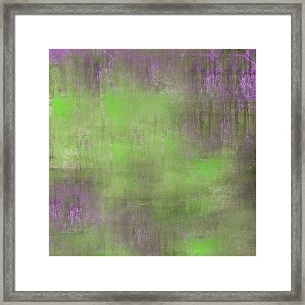 Framed Print featuring the digital art The Green Fog by Mihaela Stancu