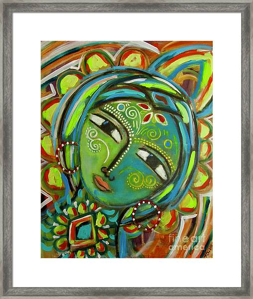The Green Goddess  Framed Print