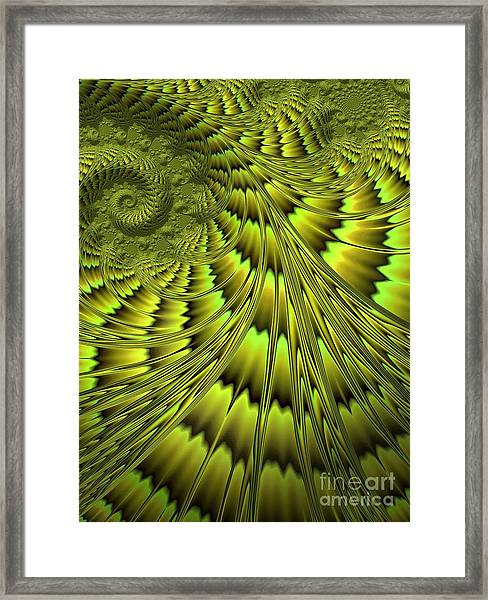 The Green Shell Framed Print