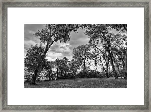 The Grounds Of Fort Caroline National Memorial Framed Print