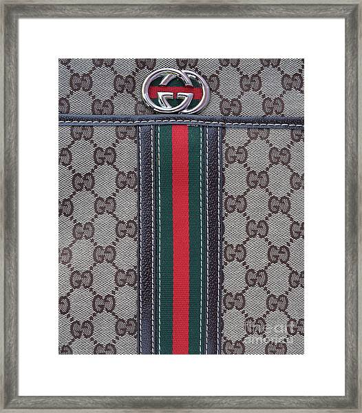 The Gucci Monograms Framed Print
