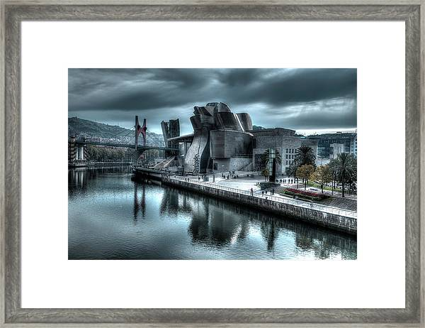 The Guggenheim Museum Bilbao Surreal Framed Print