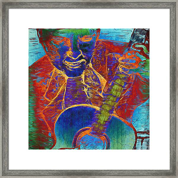 The Guitar Man - Two Framed Print