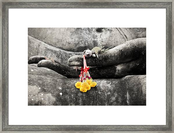 The Hand Of Buddha Framed Print