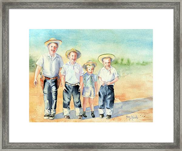 The Happy Wranglers Framed Print