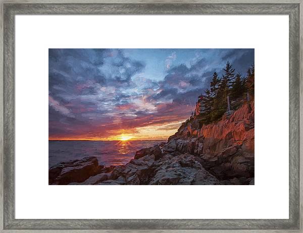 The Harbor Dusk  Iv Framed Print