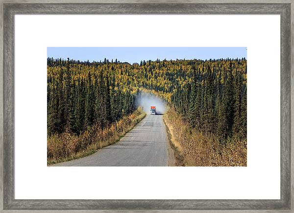 The Haul Road Framed Print