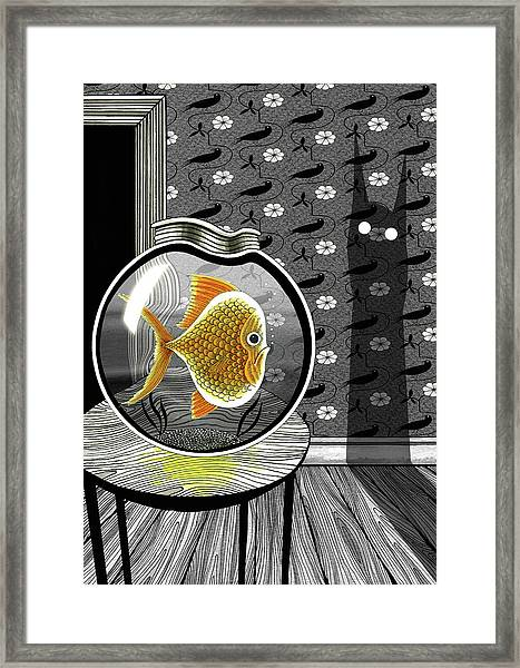 The Haunted Goldfish Bowl  Framed Print