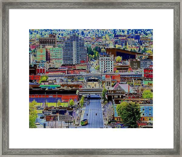 The Heart Of Downtown Spokane  Framed Print