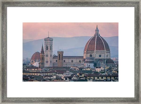 The Heart Of Florence Italy Framed Print