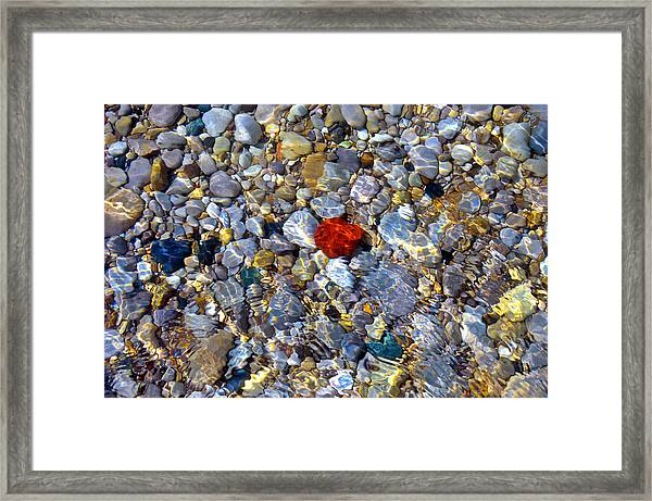 The Heart Of Lake Michigan Framed Print