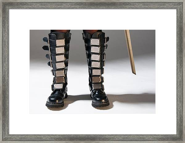 The Heroine Stands Framed Print