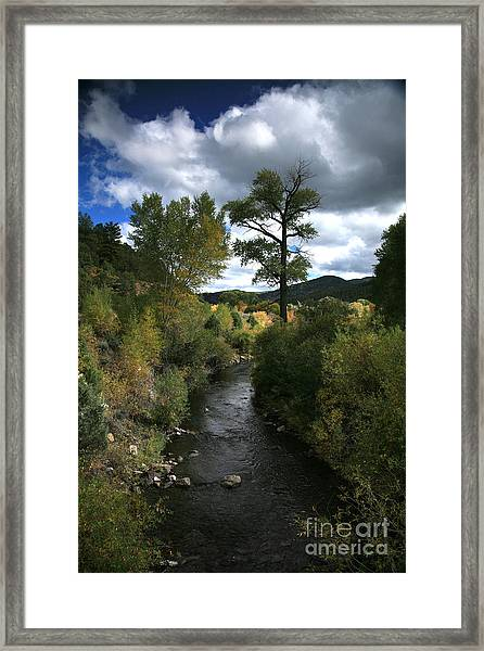 The High Road To Taos Framed Print
